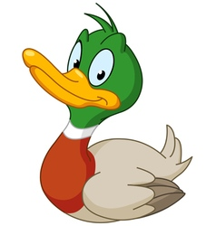 Smiling duck vector