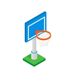 Basketball goal on a playground isometric 3d icon vector image vector image