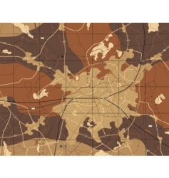 brown map vector image vector image