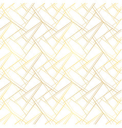 white seamless pattern with golden threads luxury vector image