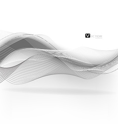Abstract waves - data stream concept vector image vector image