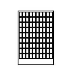 building black color icon vector image vector image