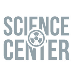 education center logo simple gray style vector image vector image