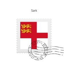 Sark Flag Postage Stamp vector image vector image