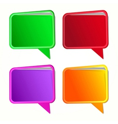 Speech bubble Labels set vector image vector image