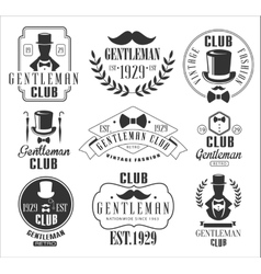 Vintage Gentlemen Club Logos Set vector image