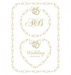 wedding ribbon frame vector image
