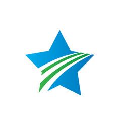 abstract star arrow logo image vector image