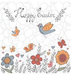 Elegant Easter post card vector image vector image