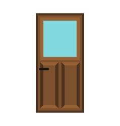 Interior apartment wooden door icon flat style vector image