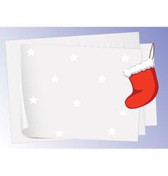 paper sheets and christmas bag vector image vector image