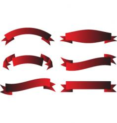 scroll red vector image
