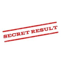 Secret result watermark stamp vector