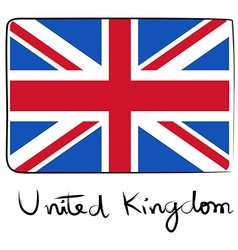 United Kindom flag doodle vector image
