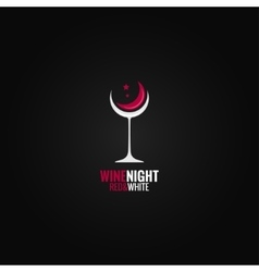 wine glass concept design background vector image