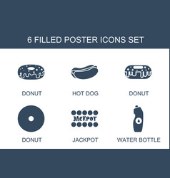 6 poster icons vector