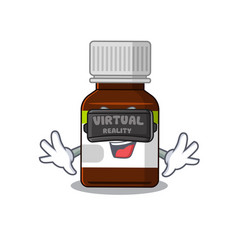 A cartoon image antibiotic bottle using modern vector
