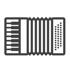 Accordion line icon music and instrument vector