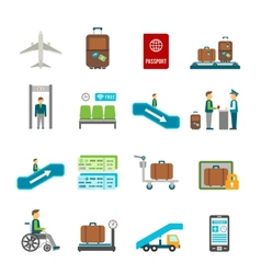 Airport travel icons vector
