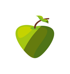 Apple fruit healthy shadow vector