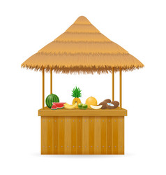 beach stall fresh bar for summer holidays on vector image