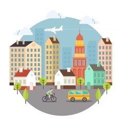 Beautiful Colored City Street Design vector