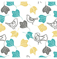 Birds and Leaves Background vector
