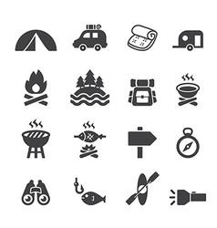 camp icon set vector image