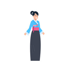 china traditional clothes geish woman wearing vector image