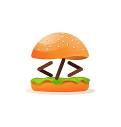 coding and programming learning icon burger vector image
