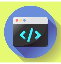 Coding icon flat program app vector