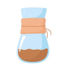 coffee brew method chemex isolated icon style vector image