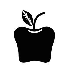 Contour delicious apple healthy fruit vector
