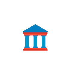 court icon flat element of vector image