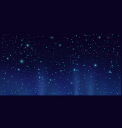 dark sky with shining stars night sky background vector image