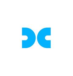 dc cd letter logo icon lettermark sign vector image
