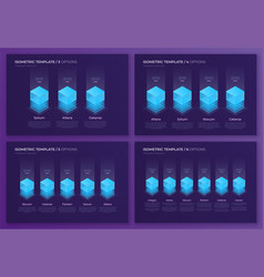 designs with isometric elements templates vector image