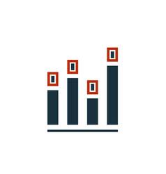 diagram icon creative symbol in two colors pixel vector image