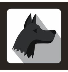 Doberman dog icon flat style vector