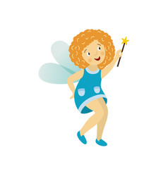Fairy cute girl set isolated vector