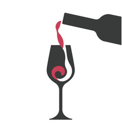 Filling wine glass vector