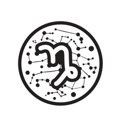 Flat icon in black and white style Zodiac signs vector