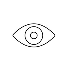 Flat line eye icon vector