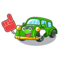 Foam finger classic car toys in cartoon shape vector