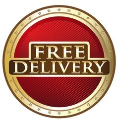 Free Delivery Emblem vector