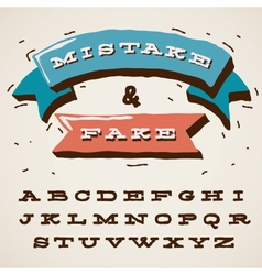 Funny alphabet letters in retro style vector image vector image