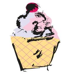 Grunge Cupcake vector