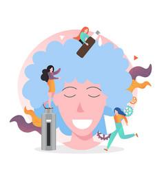 hairdresser concept for web banner website vector image