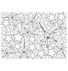 Hand drawn of moravian stars or herrnhuter stern b vector