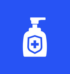 Hand sanitizer or antibacterial gel icon vector